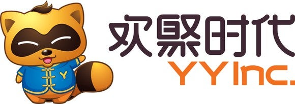 YY Company logo with Chinese and English lettering, and YY mascot