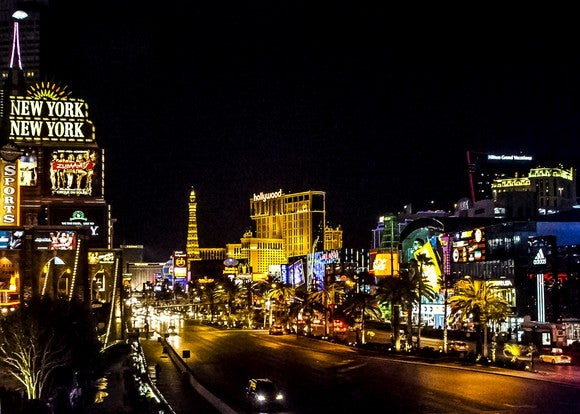 Night view of the Las Vegas Strip