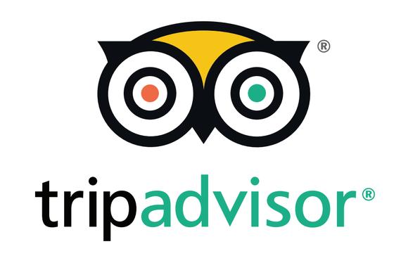 The TripAdvisor logo.
