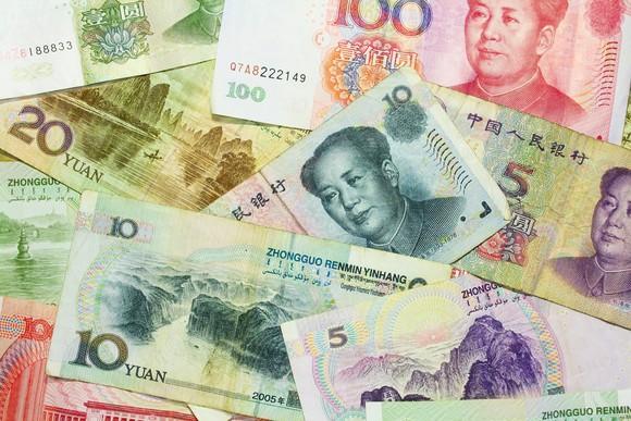 Chinese yuan banknotes