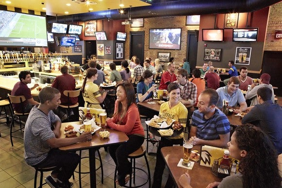 Diners at Buffalo Wild Wings