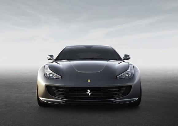 Front image of a Ferrari sports car.
