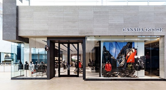 Canada Goose Toronto flagship store exterior.