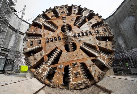 Large tunnel-boring machine