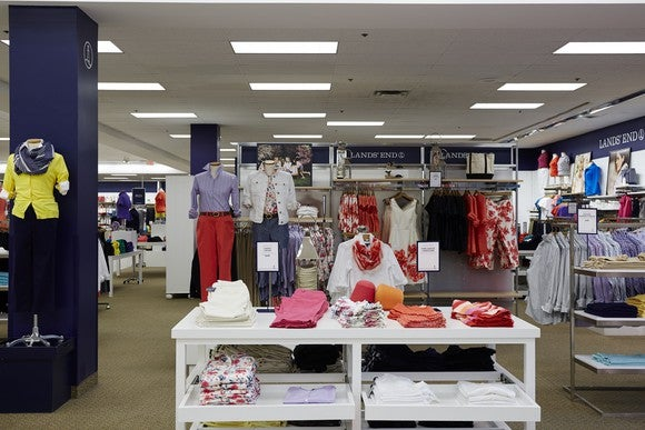 Lands' End women's section in store