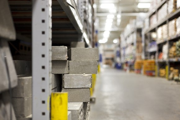 Bricks at a hardware store.
