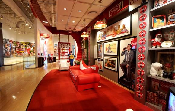 A Coca-Cola pop culture gallery.