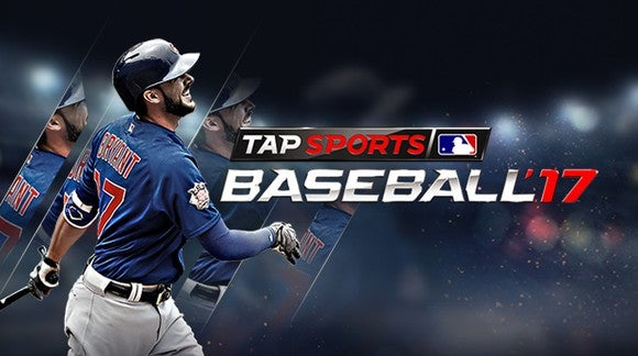 Promotional image of Glu's Tap Sports Baseball title.