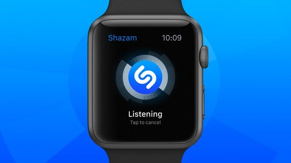 Shazam music discovery app on Apple watch.