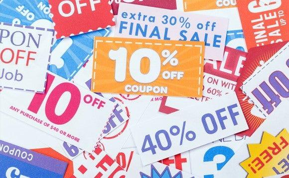 Picture of a pile of coupons.