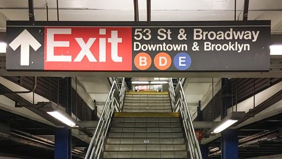 MAT Subway sign, 7 Avenue station, NYC.