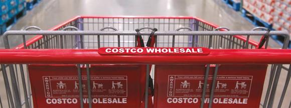 A Costco cart.