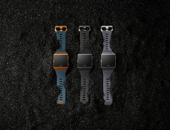 Fitbit Ionic family on dark gravel