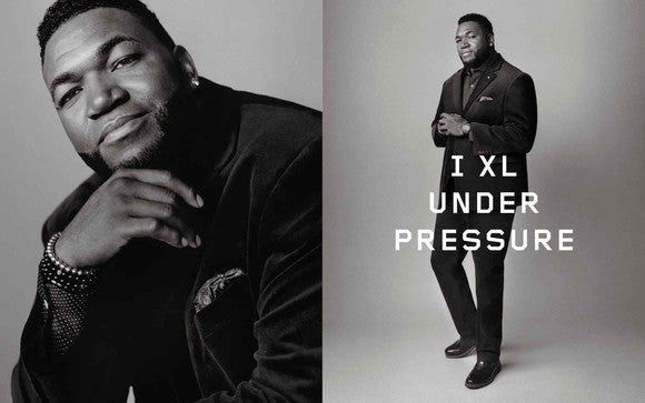 David Ortiz appears in DXL ads.