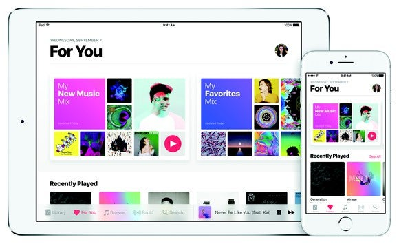 Apple Music on iPad and iPhone