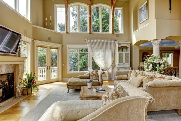 Large home interior