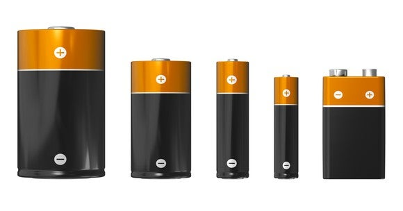 Images of copper-top batteries