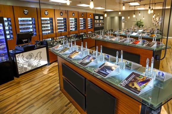 Interior of Avail Vapor store