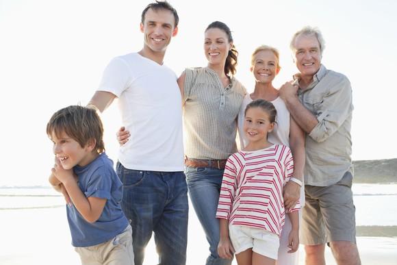 A multi-generation family.