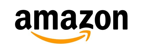 Amazon logo -- amazon written in black letters with an an orange arrow underneath from the a to the z