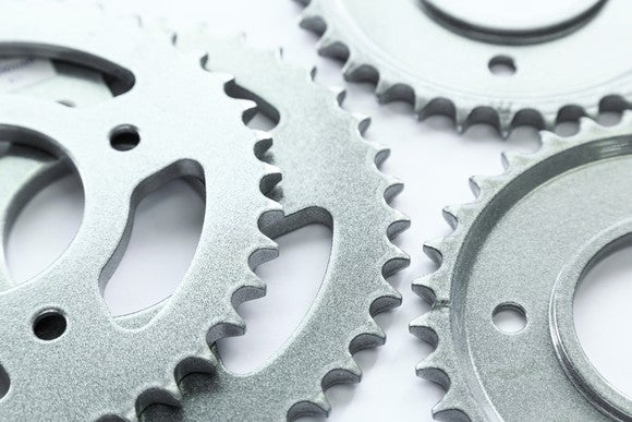 Metal gears.