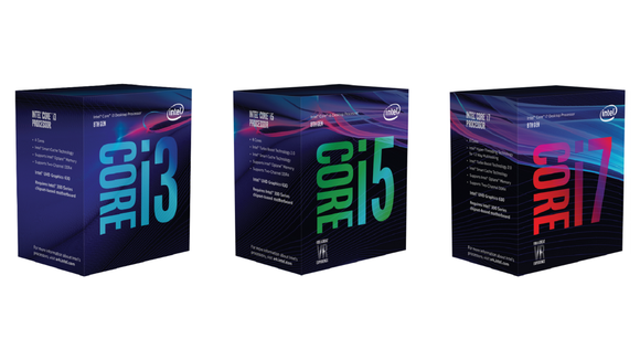 Boxed Intel Core i3, i5, and i7 processors.