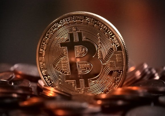A Bitcoin.