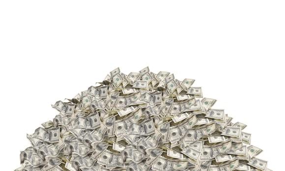 A heap of $100 U.S. bills