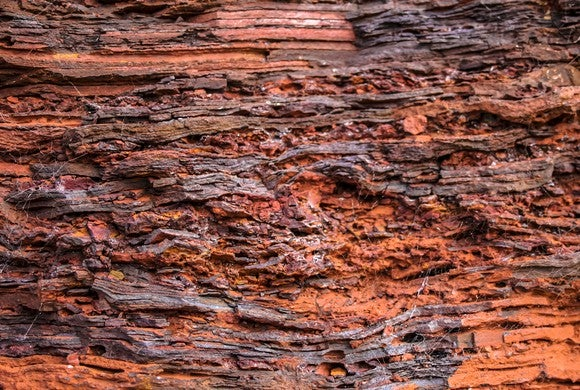 A section of iron ore rock