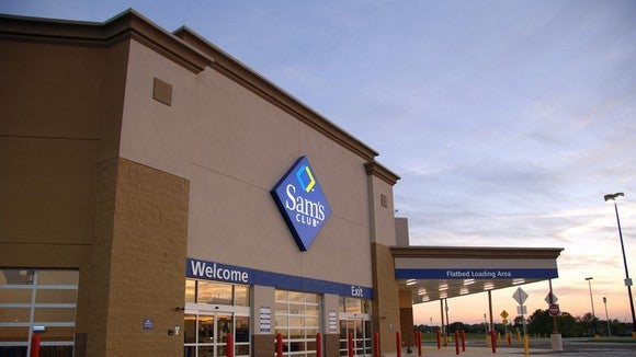 The entrance to a Sam's Club store