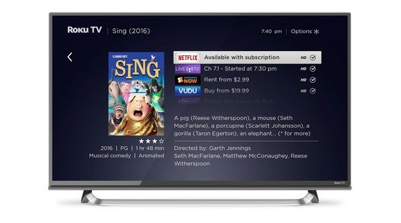 Search interface for Roku OS 8