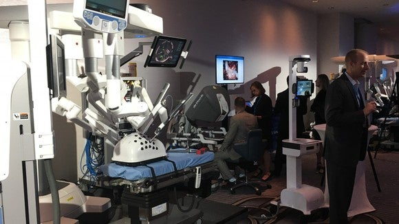 A demo of Intuitive Surgical's da Vinci.