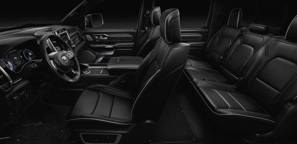 The interior of the Ram 1500