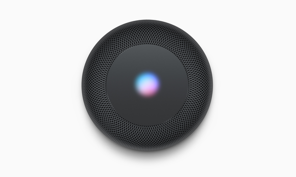Top view of Siri interface on HomePod