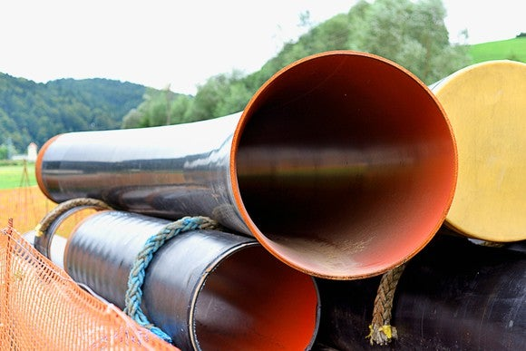 A stack of pipes.