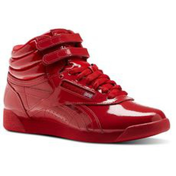A red Reebok Freestyle
