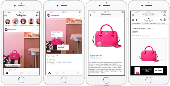Examples of how brands would integrate shopping into Instagram