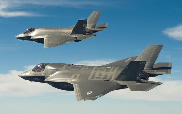 2 F-35 Stealth Fighter Jets.