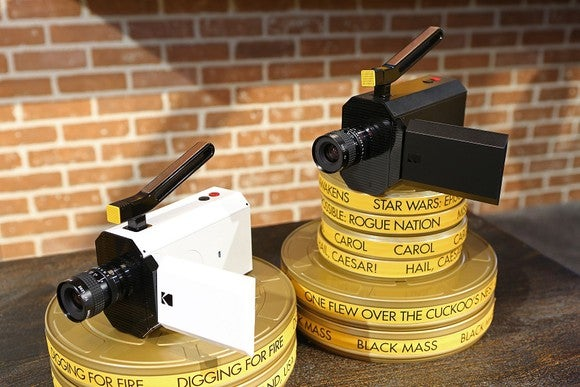 Kodak cameras sitting on film wheels