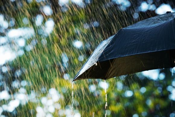 Umbrella blocking the rain
