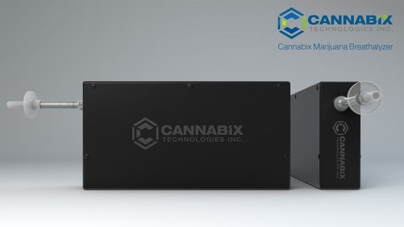 The Cannabix Marijuana Breathalyzer device.
