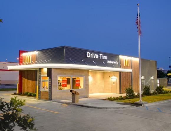 McDonald's restaurant from outside.