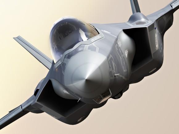 F-35 fighter jet seen head-on