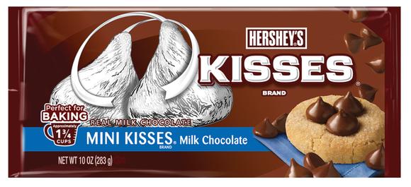Packaging for Hershey's Mini Kisses.