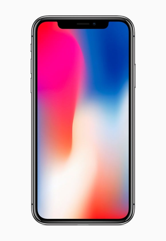 Front view of iPhone X