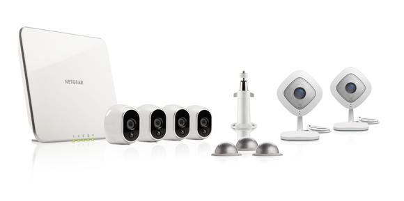 Netgear router and Arlo camera hardware