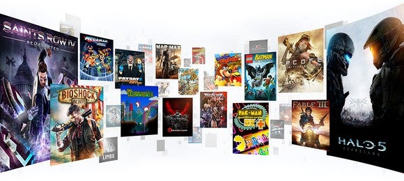Some of the games included in Microsoft's Game Pass