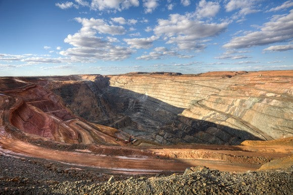 An open-pit mine.
