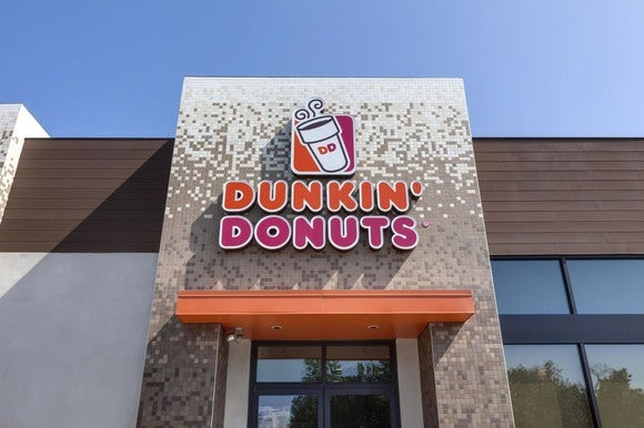 A Dunkin' Donuts storefront