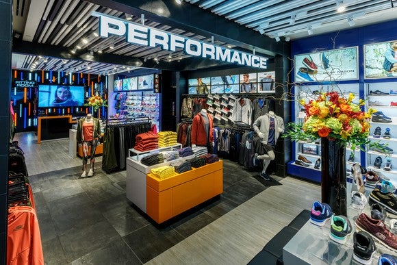 Performance sign at a Skechers store.